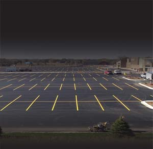 road striping guide laser